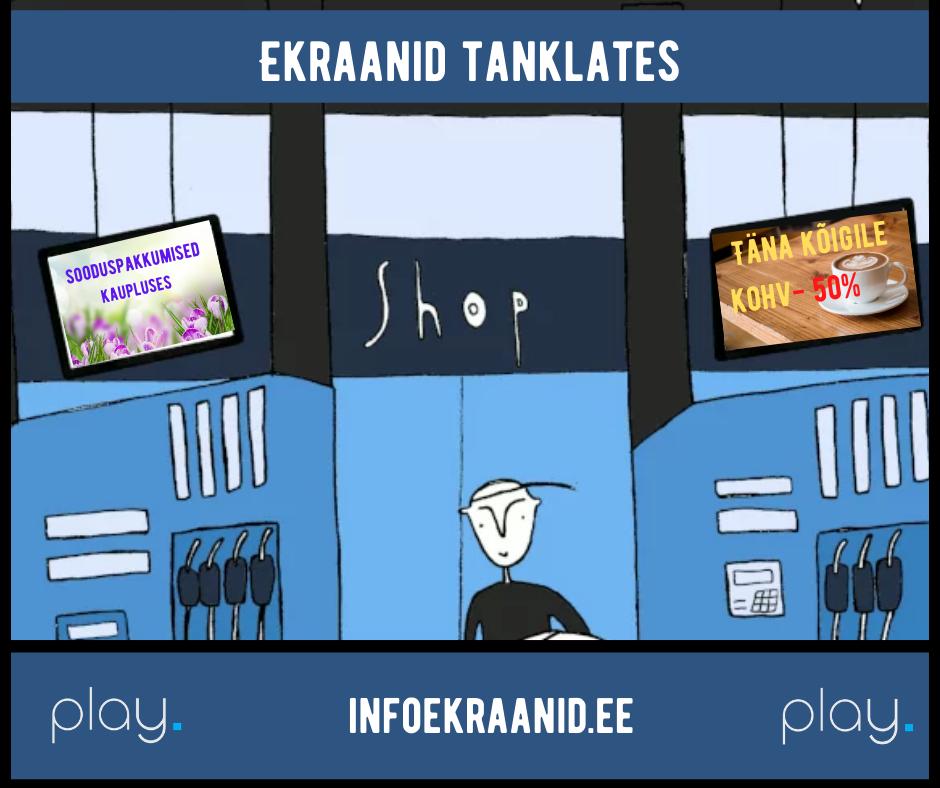 Infoekraanid tanklates